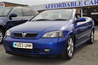 2003 VAUXHALL ASTRA 1.8 COUPE CONVERTIBLE 16V 2d 125 BHP £2495.00