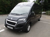 2018 PEUGEOT BOXER LWB 335 L3 H2 Professional 130ps (Rear Camera, Leather Steering Wheel, Overhead Cabin Storage, Alloys, Auto Lights/Wipers, Front Fogs, LED DRL's, Folding Mirrors, Heated Drivers Seat)ring Wheel, Heated Drivers Seat) £15250.00