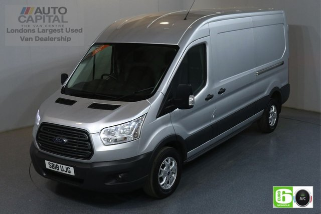 2018 18 FORD TRANSIT 2.0 350 TREND L3 H2 LWB 129 BHP EURO 6 ENGINE AIR CON, FRONT-REAR PARKING SENSORS, ALLOY WHEEL