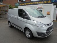 2017 FORD TRANSIT CUSTOM TREND 2.0 130 BHP 270 L1H1 SHORT WHEEL BASE EURO 6 ONLY 35,000 MILES METALLIC SILVER MAIN DEAL WARRANTY TILL 2020   £11500.00