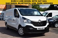 USED 2016 66 RENAULT TRAFIC 1.6 LL29 BUSINESS DCI 1d 120 BHP November 2016 EURO 6 COMPLIANT Renault Traffic LL29 1.6dci 120 BUSINESS LWB van in white with 42000 miles.
