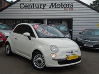 2012 FIAT 500 1.2 LOUNGE 3d - PAN ROOF + ALLOYS £3990.00