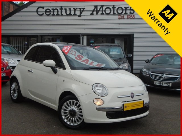 2012 12 FIAT 500 1.2 LOUNGE 3d - PAN ROOF + ALLOYS