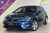 USED 2015 15 SEAT LEON 2.0 TDI FR TECHNOLOGY DSG 5d AUTO 184 BHP TECHNOLOGGY PACK, ELECTRIC FOLDING MIRRORS, SAT NAV, CRUISE, PADDLESHIFT, F&R PARKING SYSTEM, PRIVACY GLASS, CRUISE CONTROL