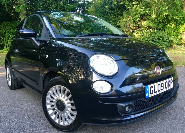 2009 09 FIAT 500 1.2 SPORT 3d 69 BHP FULL BLACK LEATHER / BLUETOOTH / AIRCON IPOD CONNECTIVITY / AUX-IN