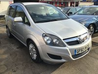 USED 2010 60 VAUXHALL ZAFIRA 1.7 EXCLUSIV CDTI ECOFLEX 5d 108 BHP Diesel, 7 seater, mpv, 66000 miles, great value.
