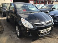 USED 2009 59 HYUNDAI I20 1.2 COMFORT 3d 77 BHP Great value, black, 54000 miles, superb.
