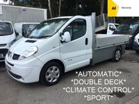2014 RENAULT TRAFIC 2.0 LL29 DCI S/R QUICKSHIFT *VERY RARE AUTO DROPSIDE*SPORTIVE WITH SAT NAV AND AIR* £7995.00