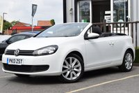 USED 2013 13 VOLKSWAGEN GOLF 1.6 SE TDI BLUEMOTION TECHNOLOGY 2d 104 BHP STUNNING WHITE CONVERTIBLE WITH FSH, MUST BE SEEN!