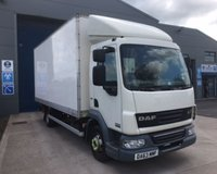 USED 2013 63 DAF TRUCKS LF LF 45.160 20FT 7.5 TONNE BOX WITH TUCK UNDER LIFT