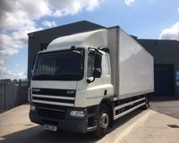USED 2013 63 DAF TRUCKS CF CF 65 (250) 28FT 18 TONNE BOX SLEEPER CAB WITH TUCK UNDER LIFT
