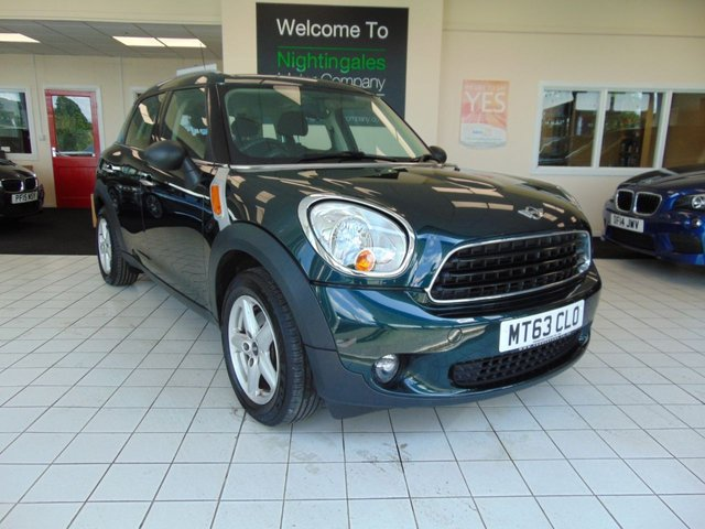 "USED 2013 63 MINI COUNTRYMAN 1.6 ONE D 5d 90 BHP FULL SERVICE HISTORY + LONG MOT + £20 ROAD TAX + BLUETOOTH + SALT PACK + 16"" 5 STAR ALLOYS + DAB RADIO + CENTRAL LOCKING + ELECTRIC WINDOWS + FRONT FOG LIGHTS"