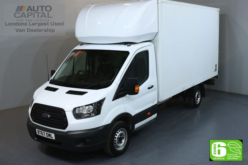 USED 2017 67 FORD TRANSIT 2.0 350 L4 EXTRA LWB 129 BHP RWD EURO 6 ENGINE LUTON ONE OWNER, FULL SERVICE HISTORY