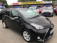 2014 TOYOTA YARIS 1.5 HYBRID EXCEL 5d AUTO 73 BHP IN BLACK 1 OWNER FULL SERVICE HISTORY IMMACULATE CONDITION  £9999.00