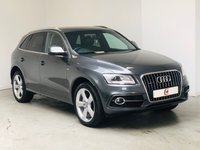 USED 2013 62 AUDI Q5 2.0 TDI QUATTRO S LINE PLUS 5d AUTO 175 BHP FULL HISTORY + SAT NAV + ELECTRIC BOOT + FULL LEATHER + PRIVACY GLASS