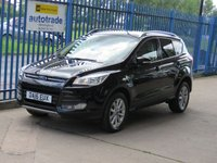 2016 FORD KUGA 2.0 TITANIUM TDCI 5dr Sat nav 1/2 Leather Cruise DAB Privacy £12000.00