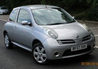 2007 NISSAN MICRA 1.2 ACTIV LIMITED EDITION 3d 80 BHP £1495.00