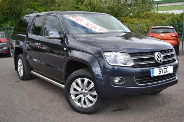 USED 2015 65 VOLKSWAGEN AMAROK 2.0 DC TDI HIGHLINE 4MOTION 5d AUTO 180 BHP NO VAT ~ HEATED LEATHER ~ COLOUR CODED CANOPY WITH WINDOWS ~ 2 KEYS