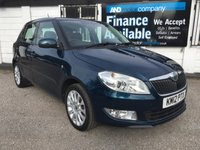 USED 2012 12 SKODA FABIA 1.2 ELEGANCE TSI 5d 103 BHP 5 Service Stamps, 2 Owners, Air Conditioning, Alloys