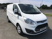 2016 FORD TRANSIT CUSTOM 270 LIMITED 2.2 TDCi 125 6-SPEED SWB L1 H1  SOLD