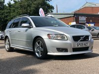 USED 2009 09 VOLVO V50 2.0 SPORT D 5d 135 BHP FULL SERVICE RECORD  *  PRIVACY GLASS *  17 INCH ALLOYS *  LEATHER *  CRUISE CONTROL *  FULL YEAR MOT *