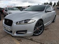 USED 2015 65 JAGUAR XF 2.2 D R-SPORT SPORTBRAKE 5d AUTO 200 BHP 19ALLOYS+CLIMATE+PARKING+LOWMILE+2KEYS+NAV+HALFTRIM+MEDIA+PRIV+