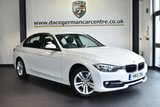 """USED 2015 15 BMW 3 SERIES 2.0 320D  SPORT 4DR  181 BHP full bmw service history * NO ADMIN FEES * FINISHED IN STUNNING ALPINE WHITE WITH ANTHRACITE UPHOLSTERY + FULL BMW SERVICE HISTORY + PRO SATELLITE NAVIGATION + BLUETOOTH + REAR-VIEW CAMERA + HEATED SEATS + DAB RADIO + LIGHT PACKAGE + RAIN SENSORS + AUTO AIR CON + PARKING SENSORS + 17"""" ALLOY WHEELS"""