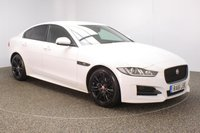 USED 2016 16 JAGUAR XE 2.0 R-SPORT 4DR SAT NAV HEATED LEATHER SEATS 1 OWNER 178 BHP FINISHED IN A STUNNING POLARIS WHITE + SATELLITE NAVIGATION + BLUETOOTH + £20 ROAD TAX + EXCELLENT MPG + FULL SERVICE HISTORY + HEATED LEATHER SEATS + ELECTRIC SEATS + CLIMATE CONTROL + XENON HEAD LIGHTS + PRIVACY GLASS