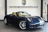 "USED 2013 62 PORSCHE BOXSTER 2.7 24V PDK 2DR AUTO 265 BHP full service history * NO ADMIN FEES * FINISHED IN STUNNING DARK METALLIC BLUE WITH FULL LEATHER INTERIOR + FULL SERVICE HISTORY + DUAL CLUTCH TRANSMISSION + BLUETOOTH + HEATED SEATS + 2 ZONE CLIMATE CONTROL + PARK ASSIST + 19"" BOXSTER S WHEELS"
