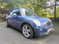 USED 2004 54 MINI CONVERTIBLE 1.6 COOPER 2d 114 BHP SUPPLIED WITH 12 MONTHS MOT