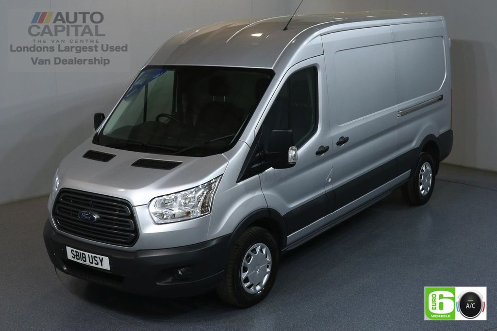 USED 2018 18 FORD TRANSIT 2.0 350 TREND L3 H2 LWB 129 BHP EURO 6 ENGINE AIR CON, FRONT-REAR PARKING SENSORS
