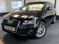 USED 2009 09 AUDI Q5 2.0 TDI QUATTRO SE DPF 5d 168 BHP SATNAV LEATHER  4WD. SATELLITE NAVIGATION. STUNNING BLACK MET WITH BLACK LEATHER TRIM. HEATED SEATS. CRUISE CONTROL. 18 INCH ALLOYS. COLOUR CODED TRIMS. PARKING SENSORS. BLUETOOTH PREP. MULTI MEDIA SCREEN. CLIMATE CONTROL. MANUAL 6 SPEED. TRIP COMPUTER. R/CD/MP3 PLAYER. MFSW. MOT 07/20. SERVICE HISTORY. PRESTIGE SUV CENTRE - LS24 8EJ. TEL 01937 849492 OPTION 1