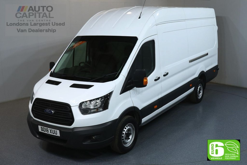 USED 2018 18 FORD TRANSIT 2.0 350 L4 H3 JUMBO 104 BHP RWD EURO 6 ENGINE FRONT-REAR PARKING SENSORS