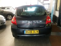 USED 2006 06 RENAULT CLIO 1.5 INITIALE DCI 5d 106 BHP This diesel 5 door Clio has only covered 75000 miles & is finished in Metallic grey with grey leather seats. It is the initiale model so has a very high spec, its fitted with power steering, air con which is cold, remote locking, rear park assist, electric windows, power folding mirrors, cruise control, alloy wheels, CD Stereo and much more. It has had two owners from new and comes with a full service history consisting of stamps, invoices and old Mot certificates. The Mot runs till April 2020.