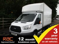USED 2015 15 FORD TRANSIT LUTON 2.2 350 LWB L4 DRW 125ps 3 Year Warranty DRW Luton Tail Lift