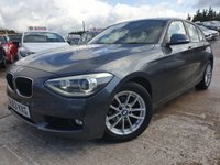USED 2013 63 BMW 1 SERIES 1.6 116D EFFICIENTDYNAMICS BUSINESS 5d 114 BHP LEATHERTRIM+ALLOYS+AIRCON+NAV+0 ROAD TAX+PARK+HISTORY+MEDIA+ELEC+