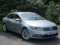 USED 2012 62 VOLKSWAGEN CC 2.0 GT TDI BLUEMOTION TECHNOLOGY 4d 168 BHP * 12 MONTHS FREE AA MEMBERSHIP * 128 POINT AA INSPECTED *