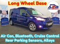 2016 FORD TRANSIT CONNECT 1.6 240 LIMITED 115 BHP, LONG WHEELBASE, 44617 Miles, Air Con, Alloys, 3 Seats, Bluetooth, and much more..... £10980.00