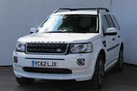 "USED 2012 62 LAND ROVER FREELANDER 2.2 TD4 DYNAMIC 5d 150 BHP IN FUJI WHITE, MASSIVE SPEC CAR COSTING NEW £32875.00 AND WITH ONLY 59000 MILES AND GOOD SERVICE HISTORY WITH RYBROOK LANDROVER, 19"" ALLOYS, POWER WASH HEADLIGHTS, FOLDING MIRRORS, FACTORY BODY KIT, SATALITE NAVIGATION TOUCH SCREEN, HEATED LEATHER SEATS, FRONT AND REAR PDC, FRONT FOGLIGHTS, DAYTIME LED RUNNING LIGHTS, SIDE STEPS, REAR PRIVACY GLASS, NOT YOUR USUAL LOOKING FREELANDER THIS ONE!"