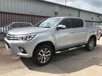 2017 TOYOTA HI-LUX INVINCIBLE D-4D 4WD AUTO 150 BHP **VERY LOW MILEAGE** £20995.00