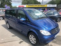 2008 MERCEDES-BENZ VIANO 2.1 CDI LONG TREND 5d AUTO 109 BHP AUTOMATIC IN BLUE WITH 90000 MILES, FULL SERVICE HISTORY AND A GREAT SPEC £10999.00