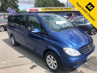 USED 2008 58 MERCEDES-BENZ VIANO 2.1 CDI LONG TREND 5d MANUAL 109 BHP MANUAL IN BLUE WITH 90000 MILES, FULL SERVICE HISTORY AND A GREAT SPEC APPROVED CARS ARE PLEASED TO OFFER THIS 2008 MERCEDES VIANO CDI2.0 TREND LONG WHEELBASE AUTOMATIC MPV. THIS IS AN IDEAL FAMILY CAR WITH 7 SEATS, REAR SLIDING DOORS, AIRCON, DAB AND MUCH MUCH MORE. THE VEHICLE HAS BEEN WELL MAINTAINED WITH SERVICES AT 11K, 20K, 33K, 45K, 59K AND 88K. ALL COMPLETED BY MERCEDES. FOR ANY MORE INFORMATION OR TO BOOK A TEST DRIVE PLEASE CALL OUR SALES TEAM ON 01622 871555.