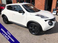 "USED 2016 16 NISSAN JUKE 1.2 N-CONNECTA DIG-T 5DOOR 115 BHP DAB   :   Satellite Navigation   :   USB & AUX Sockets   :   Cruise Control / Speed Limiter      Bluetooth   :   Climate Control / Air Conditioning   :   Contrasting Black & Red Upholstery      Rear View Camera   :   Rear Sensors   :   18"" Alloys   :   2 Keys   :   Full Service History"