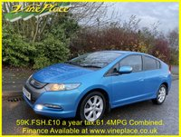 USED 2009 59 HONDA INSIGHT 1.3 IMA ES-T 5d 100 BHP +59K+FSH+Sat Nav+Bluetooth+£10/Year Tax+60mpg Combined+