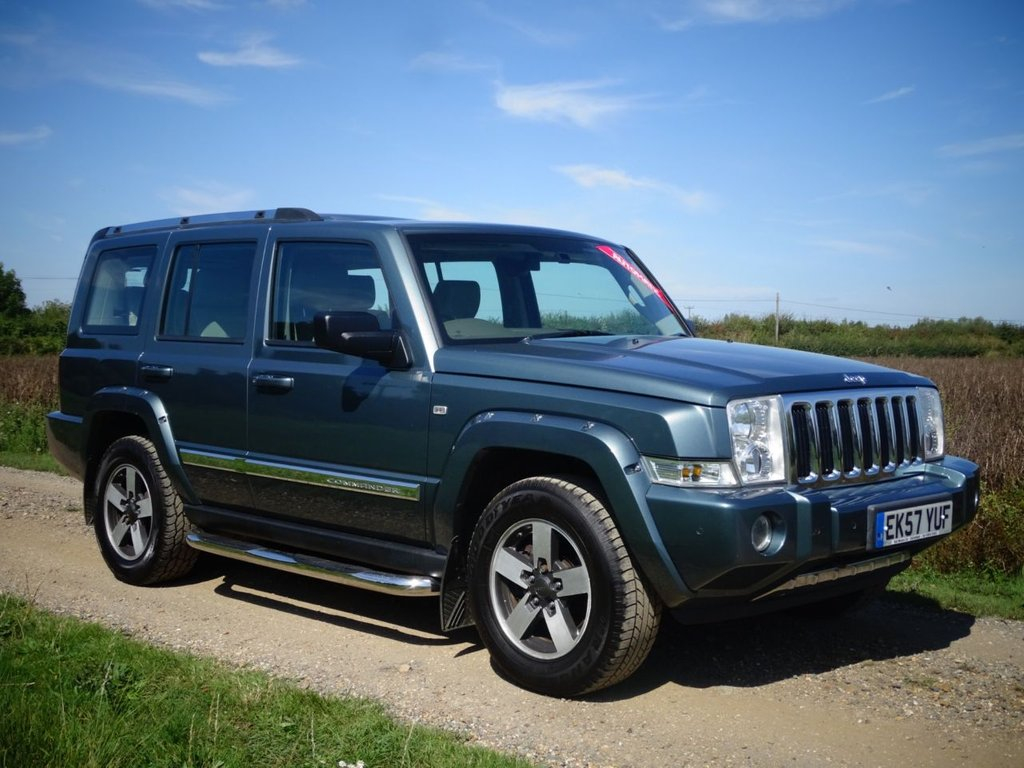 USED 2007 JEEP COMMANDER 3.0 V6 CRD LIMITED 5d 215 BHP DVD Leather 7 Seats Sat Nav