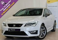USED 2016 16 SEAT LEON 1.4 ECOTSI FR TITANIUM 3d 148 BHP TITANIUM PACK, SAT NAV, ELEC FOLDING HEATED MIRRORS, CRUISE, REAR PARKING SYSTEM, ALCANTARA/LEATHER, DAB