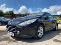 USED 2008 08 PEUGEOT 307 CC 1.6 ALLURE COUPE CABRIOLET 2d 108BHP CRUISE+ALLOYS+ELECS+CLIMATE+LEATHER TRIM+MEDIA+AUX+POWER HOOD+