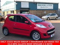 USED 2011 61 PEUGEOT 107 1.0 URBAN 3d 68 BHP Main Dealer Service History Low Miles   Only 33222 miles Group 3 Insurance £20 Road Tax 62.8 MPG Alloys Roof Spoiler 2 x Keys