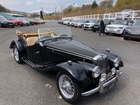 USED 1954 MG TF MGTF 1.5 CLASSIC Brilliant Black with Almond Beige leather and matching hood