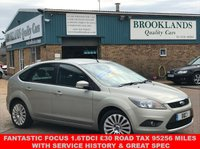 USED 2009 09 FORD FOCUS 1.6 TITANIUM TDCI 5 DOOR OYSTER METALLIC 107 BHP FANTASTIC FOCUS 1.6TDCi £30 ROAD TAX 95256 MILES WITH SERVICE HISTORY & GREAT SPEC
